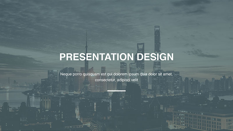 Professional power point presentation design example