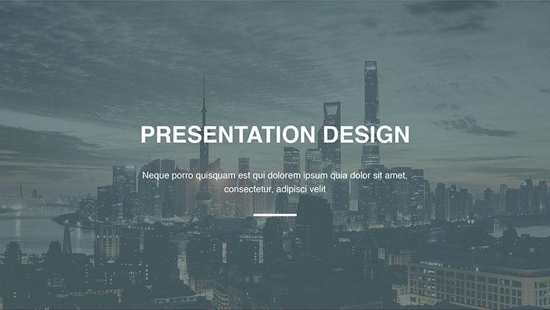 Contoh desain presentasi power point profesional